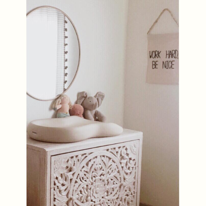 Poppy's nursery, neutral nursery decor, the modhemian