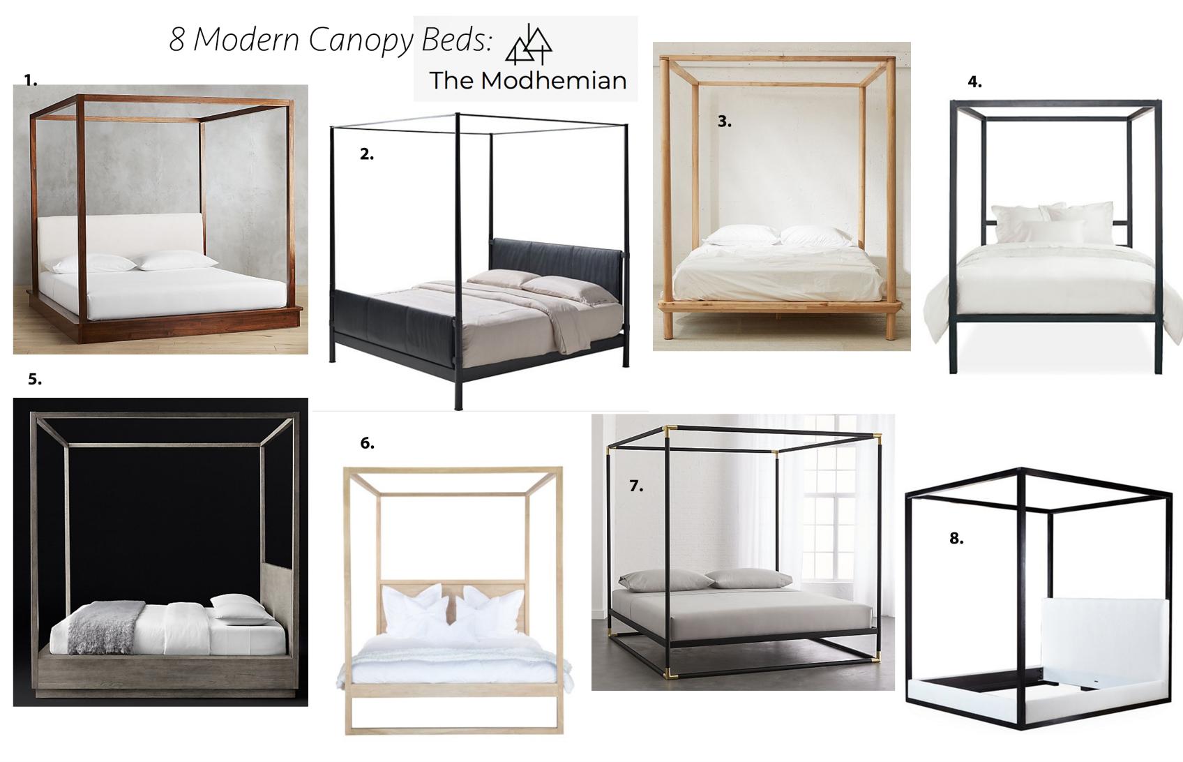 The Modhemian Blog, 8 modern canopy beds