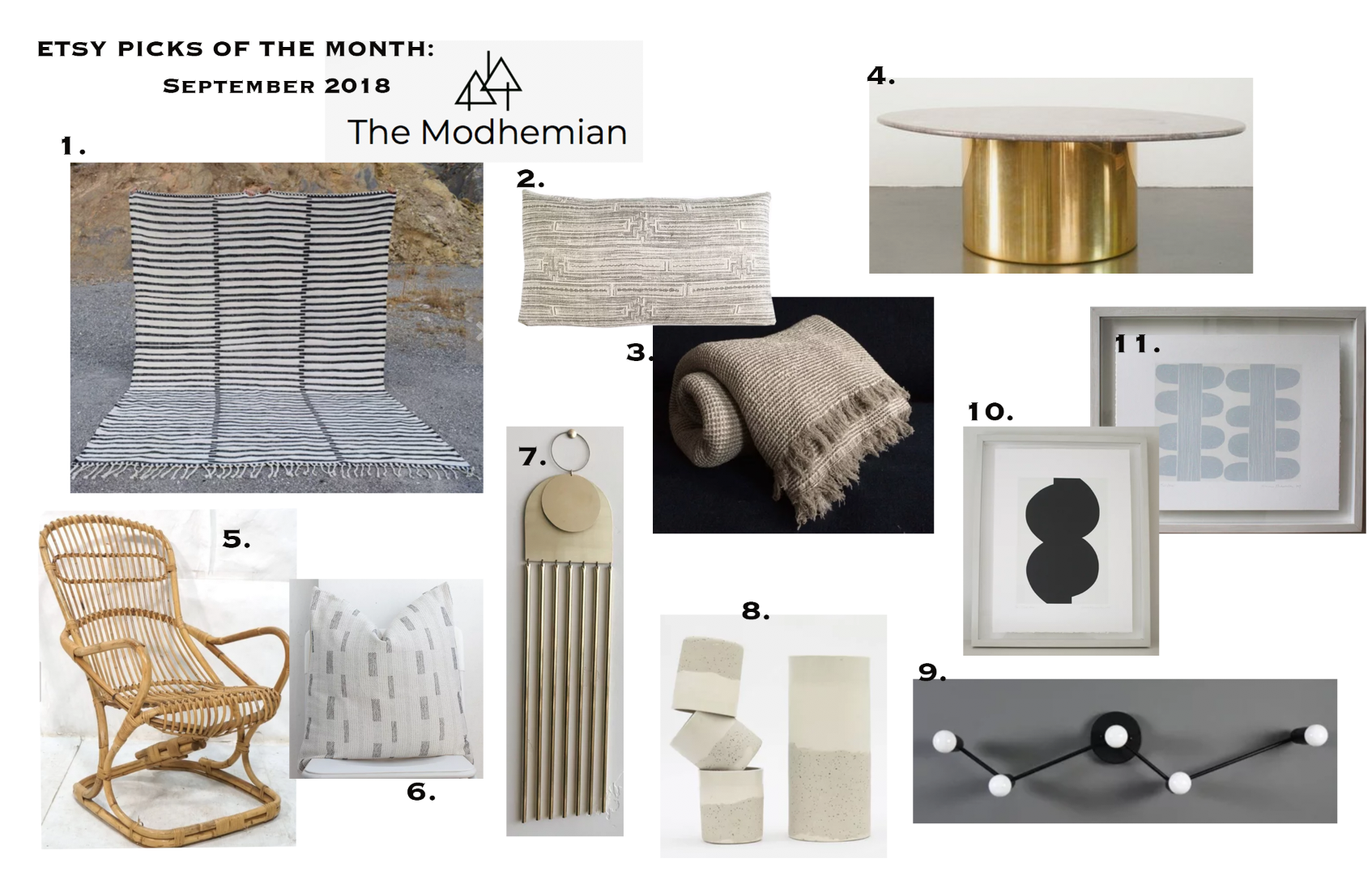 the modhemian Etsy Round Up, Etsy picks of the month
