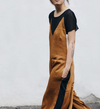 slip dress for fall, slip dress over shirt