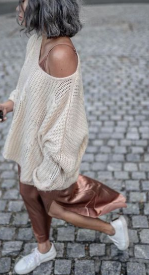 sweater under slip dress, slip dress for fall, slip dress layered with sweater