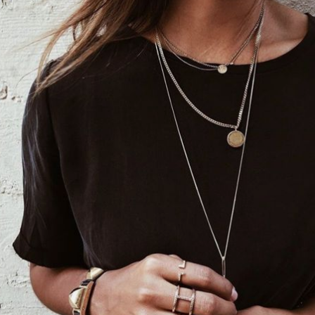 antique coin necklaces, layered god necklaces @themodhemian Fall 2018 Fashion Trend Inspo