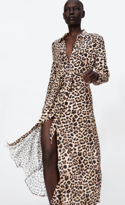 @themodhemian Fall Fashion Trends, Zara Leopard Wrap Dress
