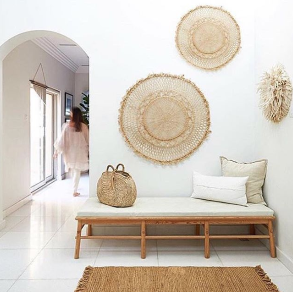 The Dharma Door, woven wall hangings, Neutral Bohemian Styling