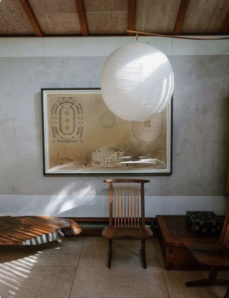 noguchi paper lantern, large round paper pendant light