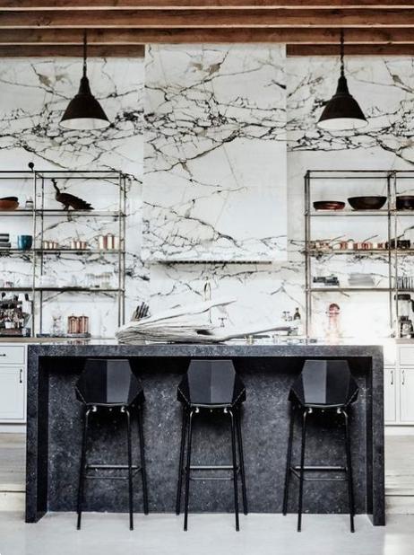 Bold Marble Trend, Statement stone, interior design trends