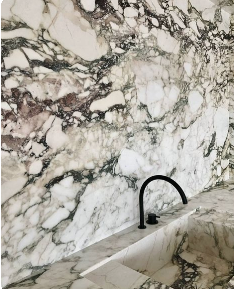 Bold Marble Trend, Statement stone, interior design trends, bathroom trends