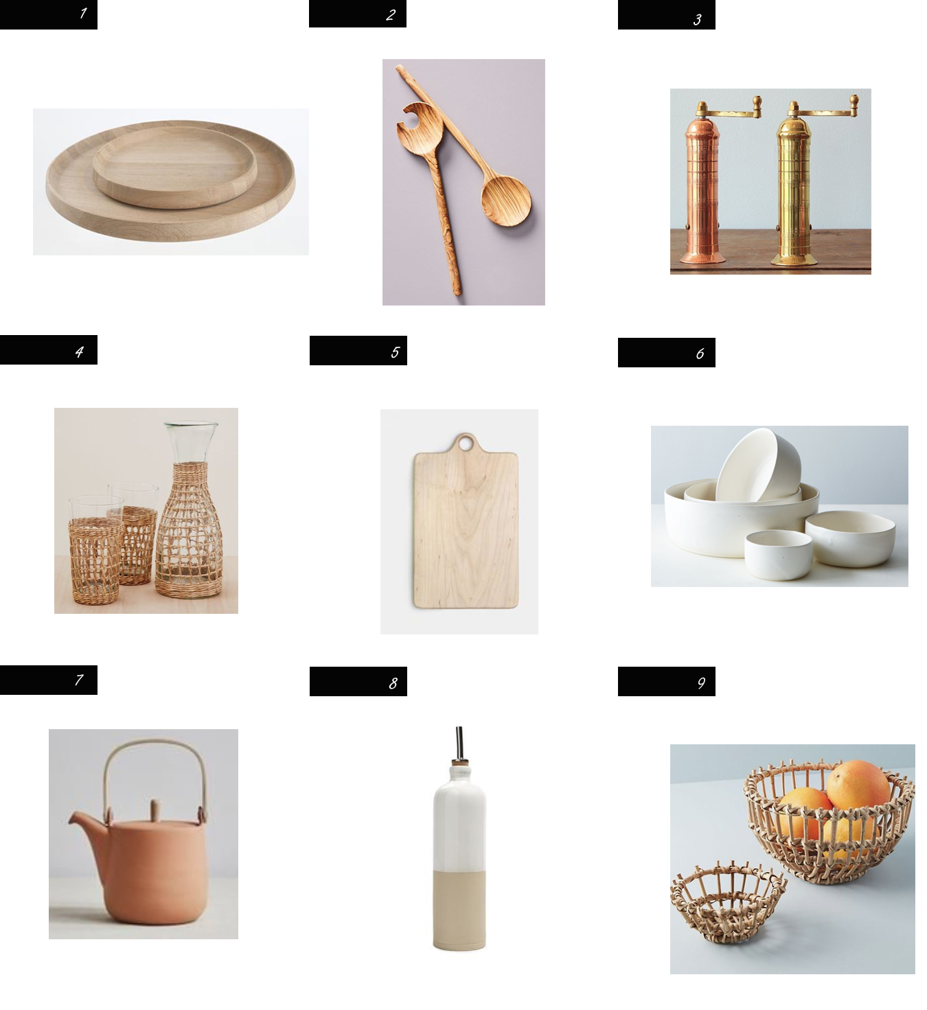Modhemian kitchen accessories, modern kitchen styling