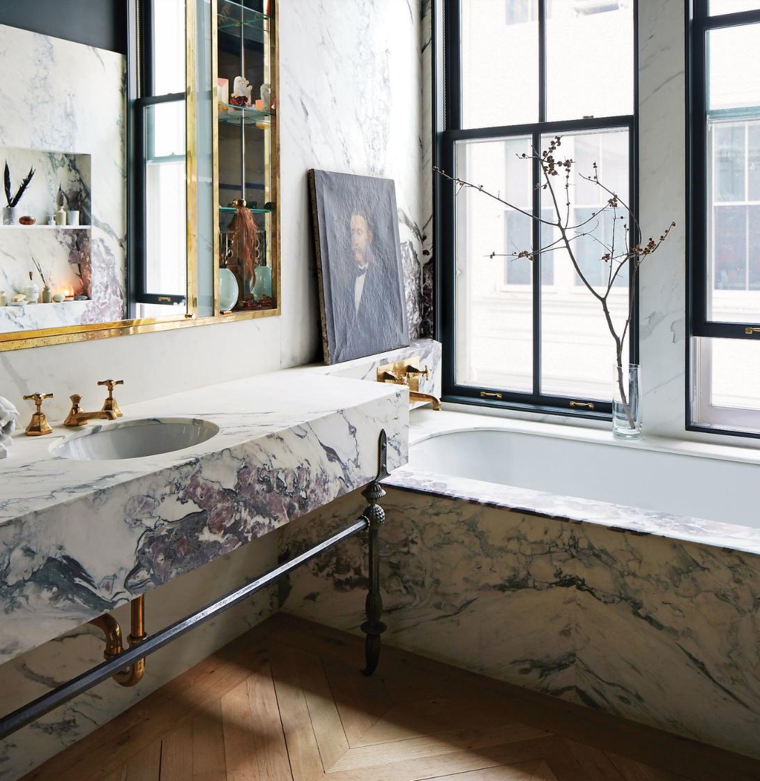 modern marble bath, marble trends, modern bath decor