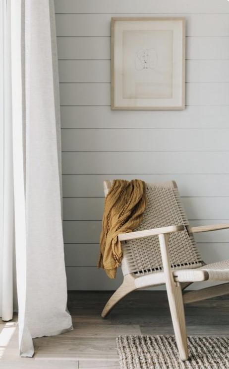 surfrider malibu, minimal beach house chic, modern organic bohemian interiors, woven chair