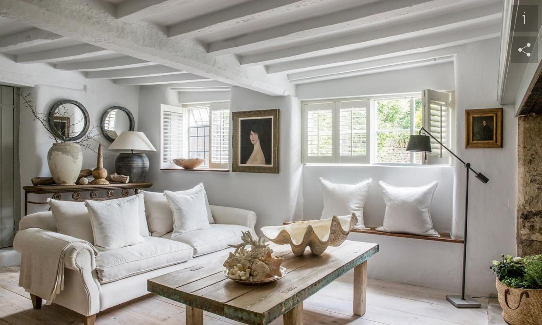 white beam open ceilings, rustic modern bohemian interiors,