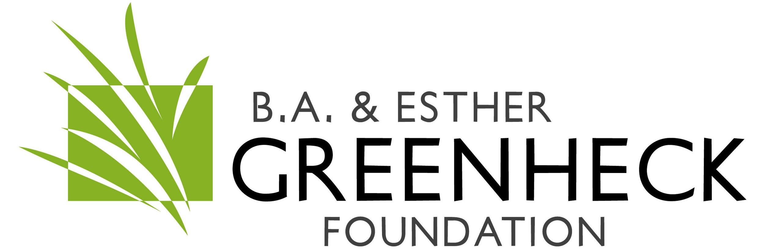 B.A. & Esther Greenheck Foundation Logo