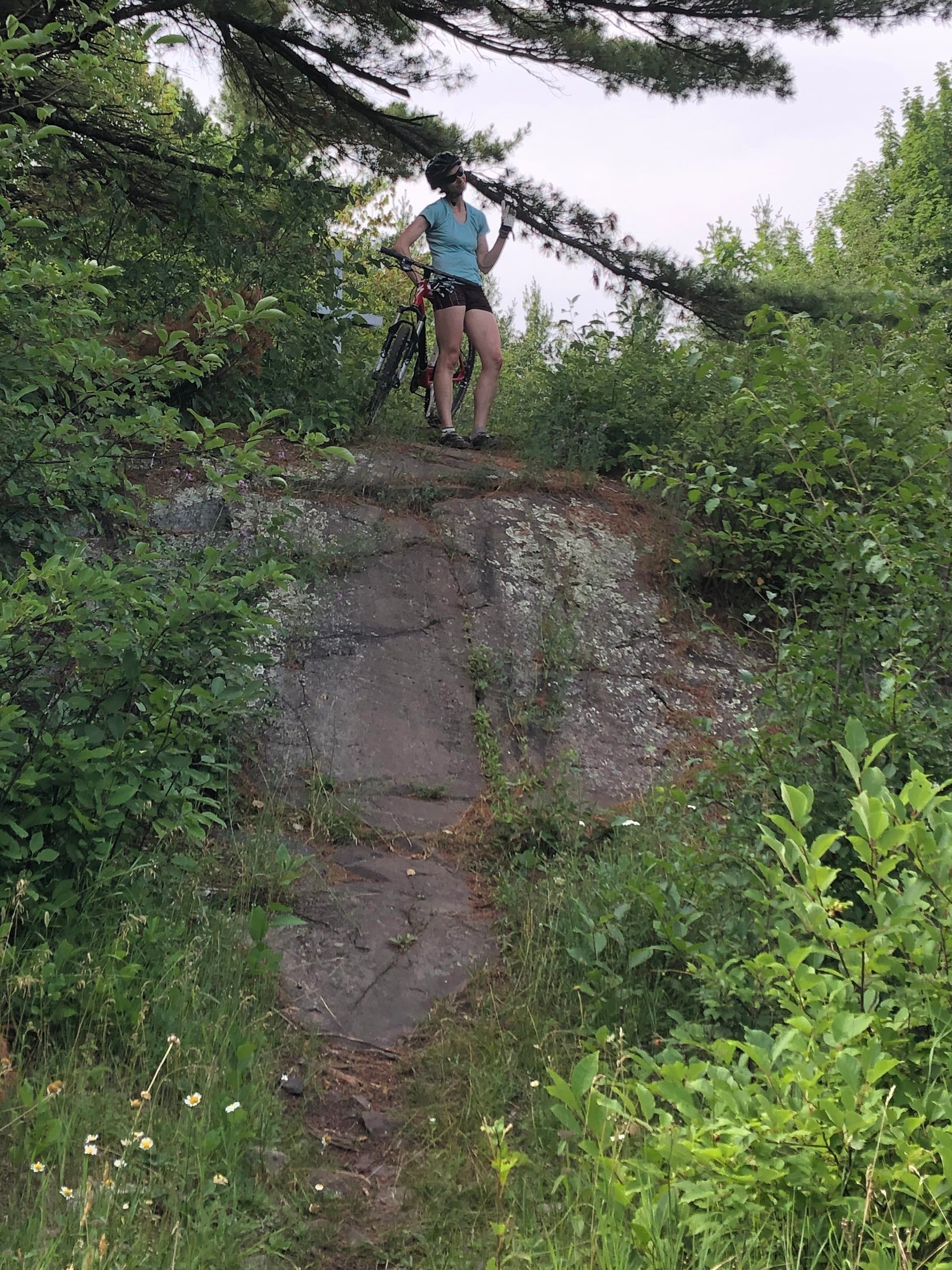 """One of countless """"unrideable"""" trails."""