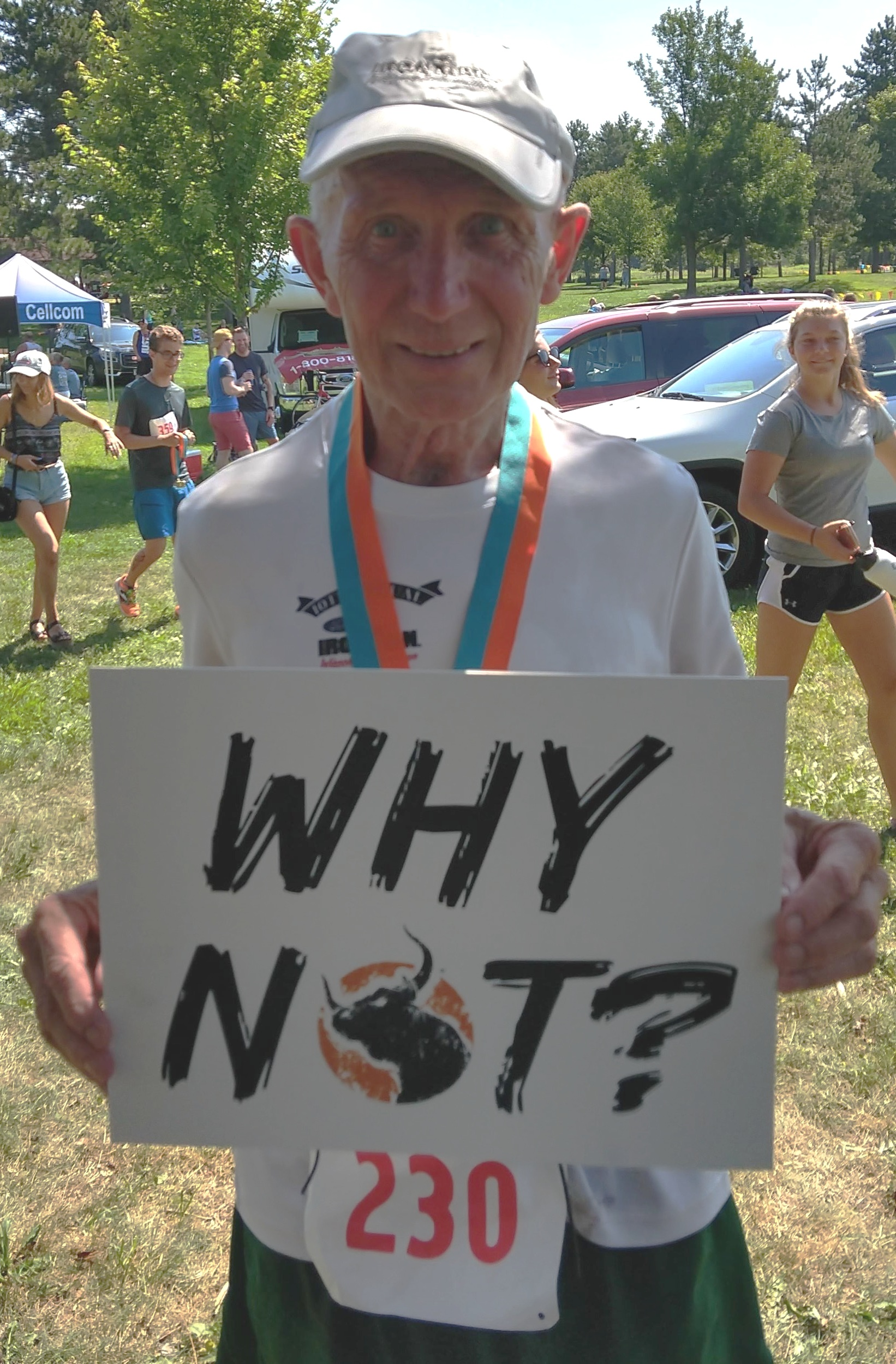 Finishing the Woodson YMCA triathlon every year for 40 years takes a 'WHY NOT?' attitude.