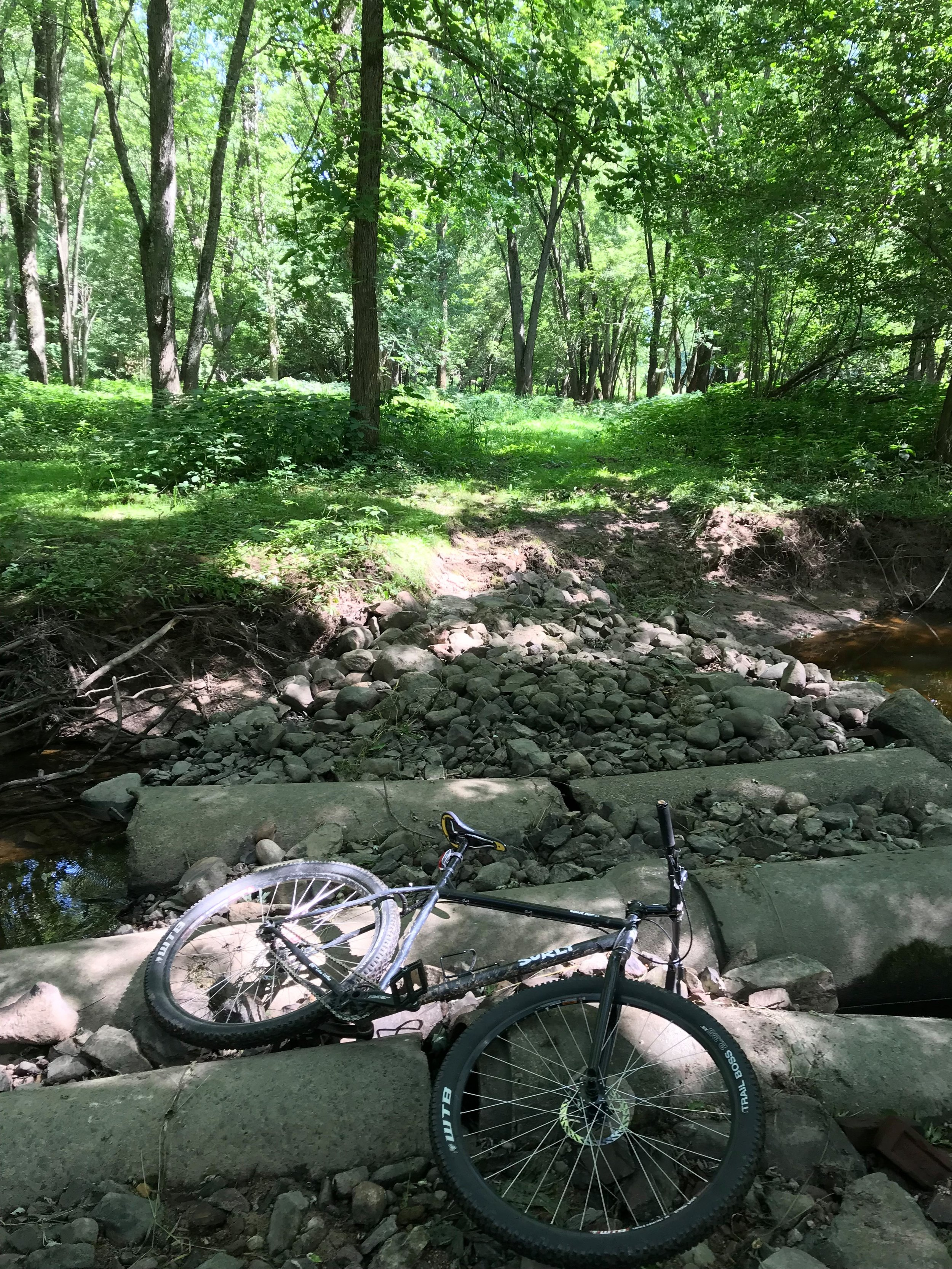 Special private land trail section in Rib Falls