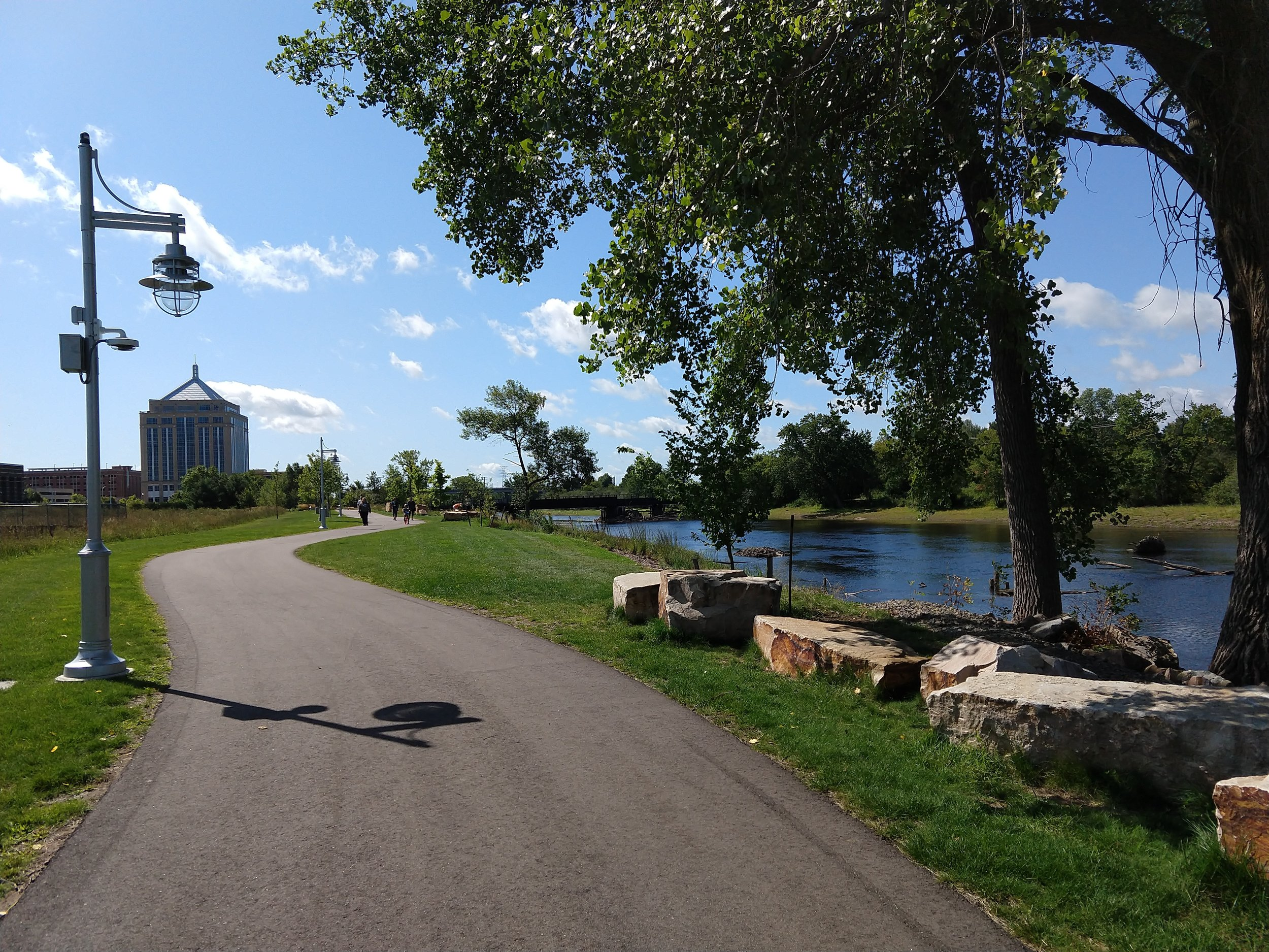 Riverfront Trail in downtown Wausau