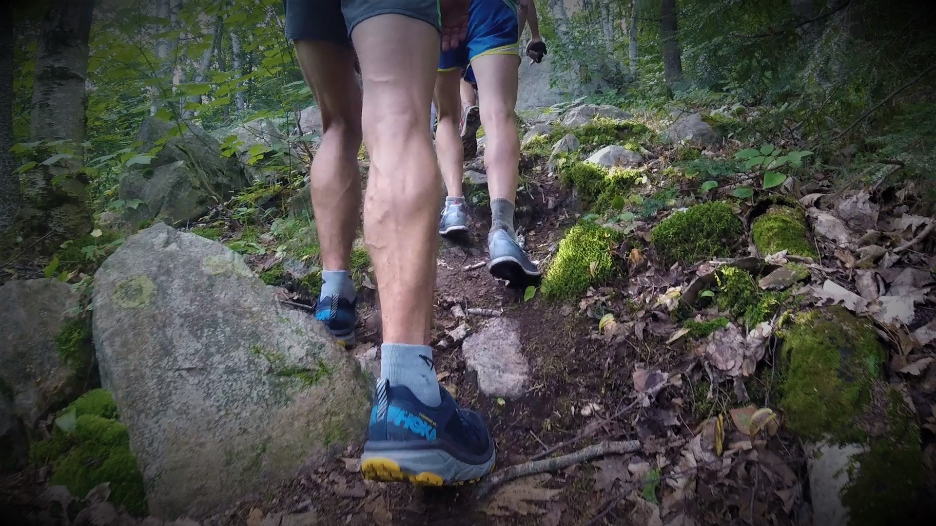 Technical footing on trail