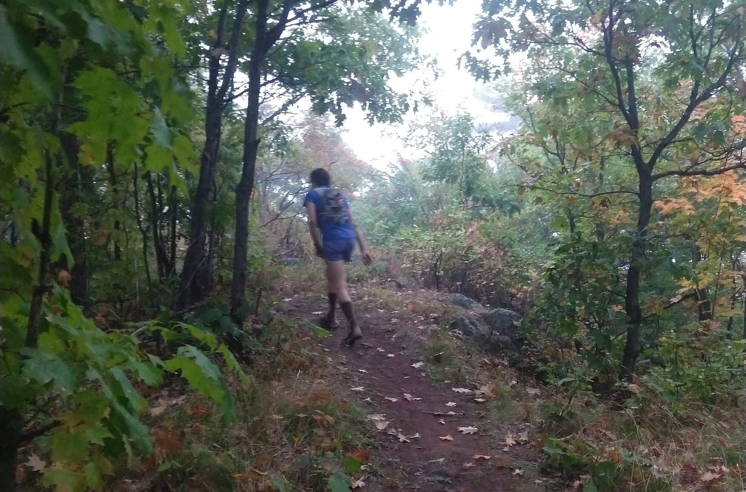 Nearly the entire race was on scenic trails with challenging terrain.