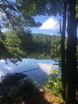One of several remote lakes on the course.