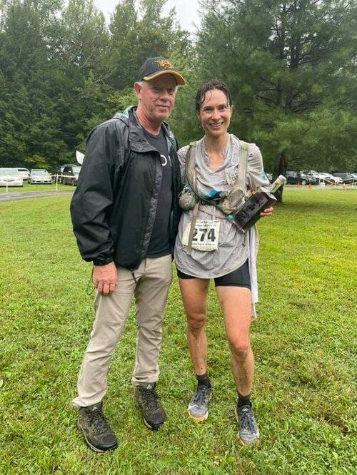 Proudly holding my moonshine at the finish line. Photo courtesy of Steve Durbin