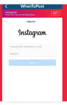 Correct format when logging into a 3rd party Instagram app.