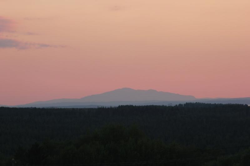 Åreskutan i solnedgången.  Foto: Ann-Mari Darj
