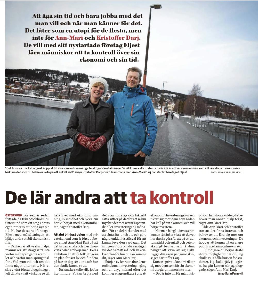 ÖP Magasin - En av Mittmedias tidningar kontaktade oss och skrev ett reportage.