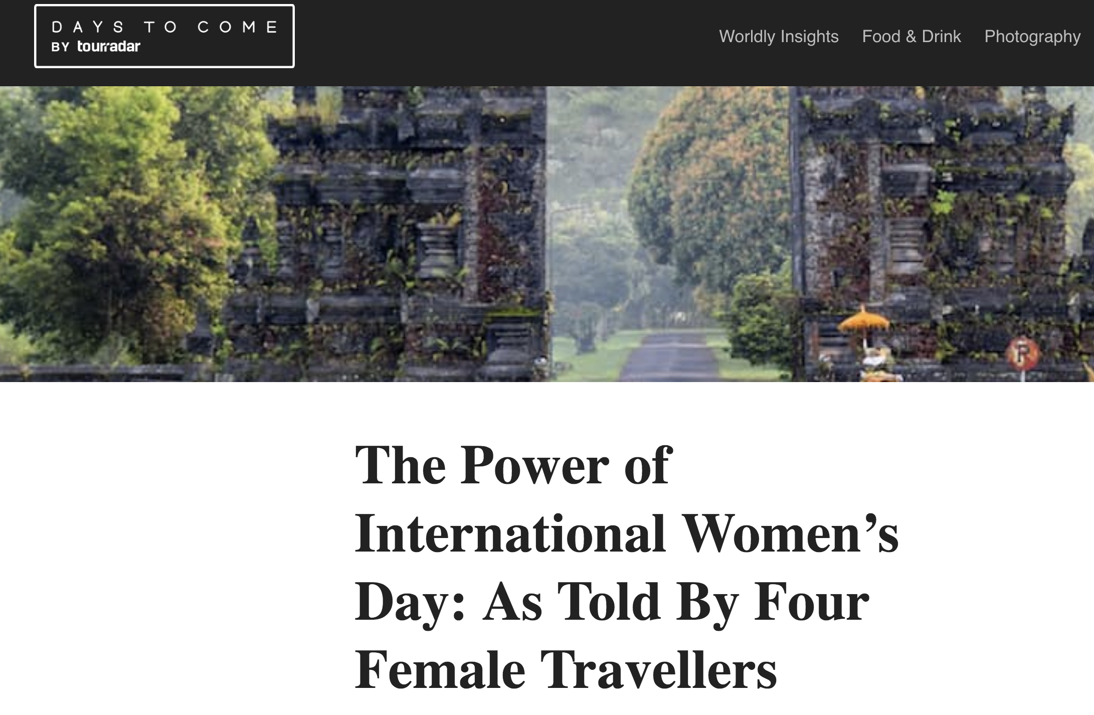 Campaign - International Women's Day with TourRadar