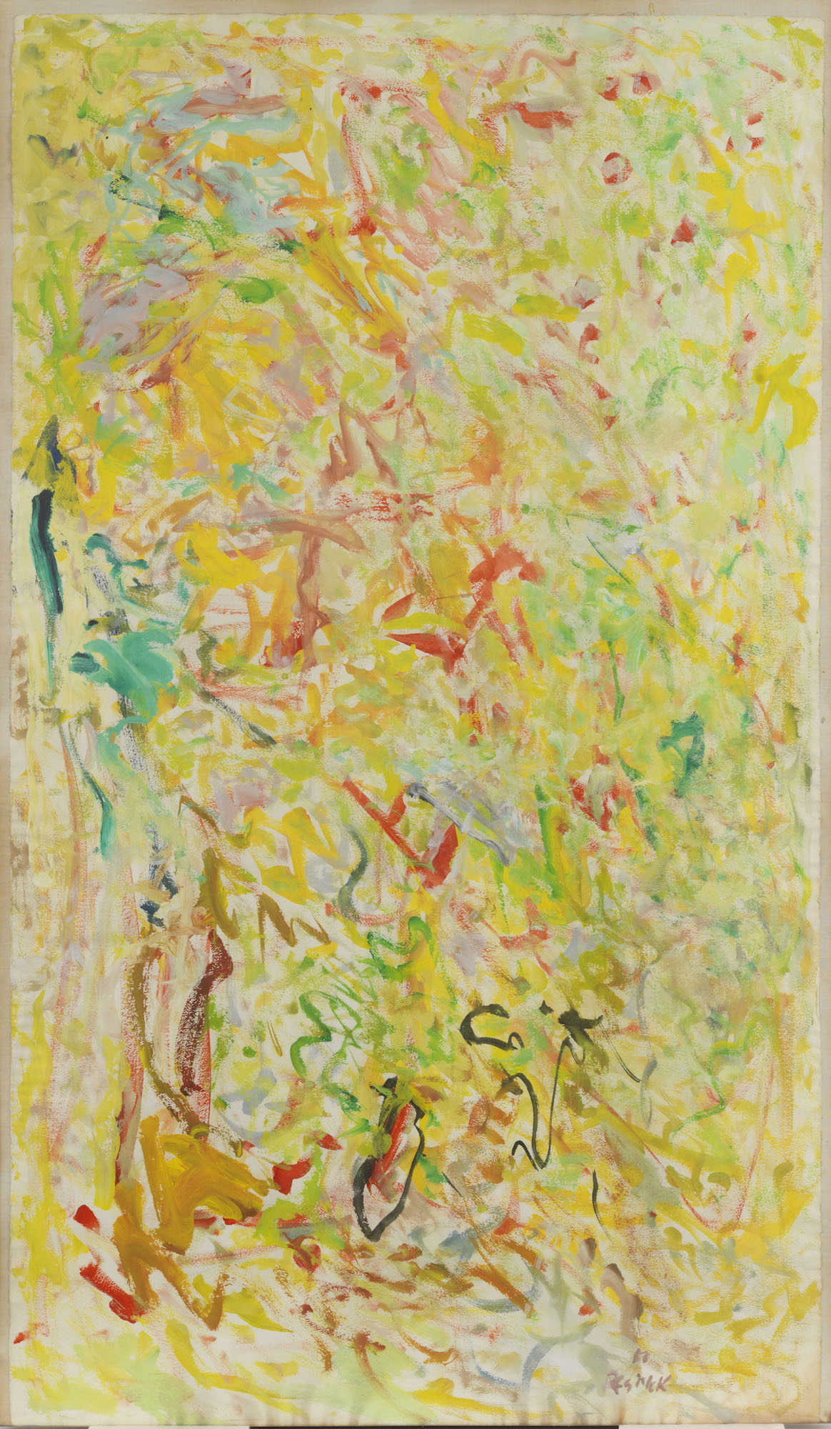 Milton Resnick  Untitled , 1960 Oil on paper 53 x 31 inches