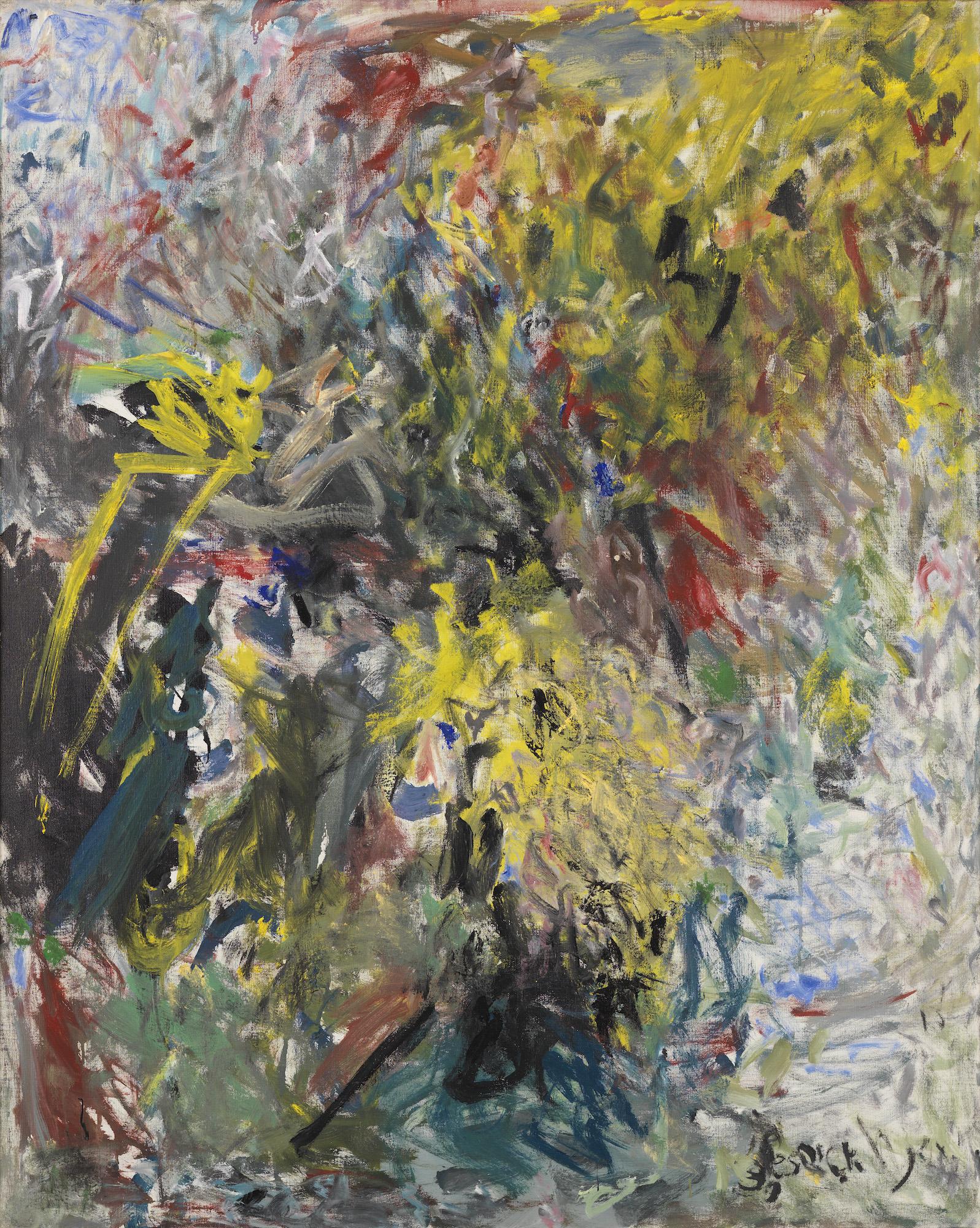 Milton Resnick  Boston , 1959 Oil on canvas 50 x 40 inches