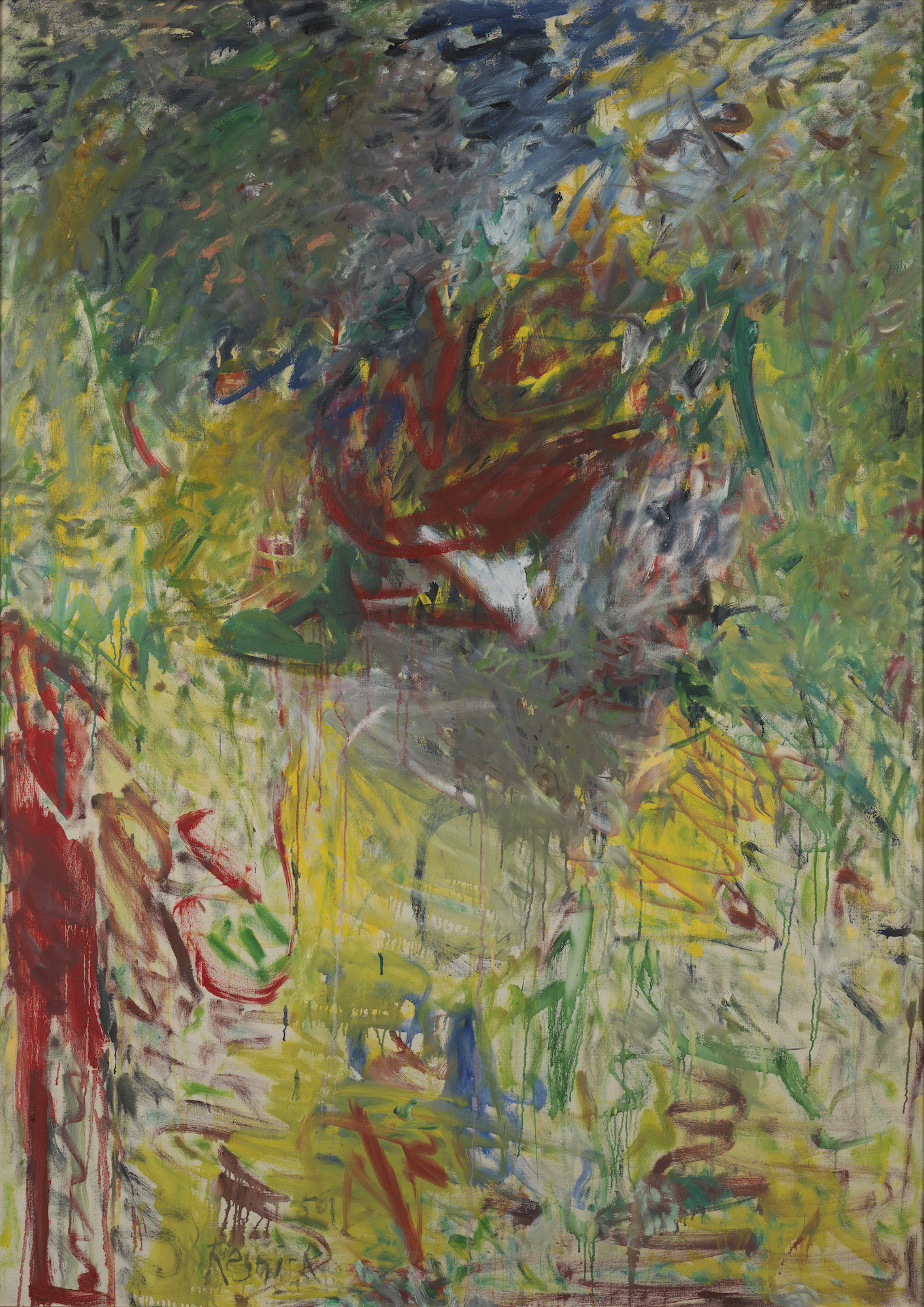 Milton Resnick  Whelan , 1959 Oil on canvas 70 x 50 inches