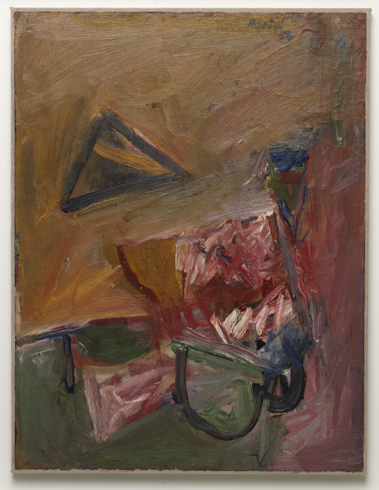 Milton Resnick  Hearts and Darts , 1957 Oil on board 26.75 x 20.5 inches
