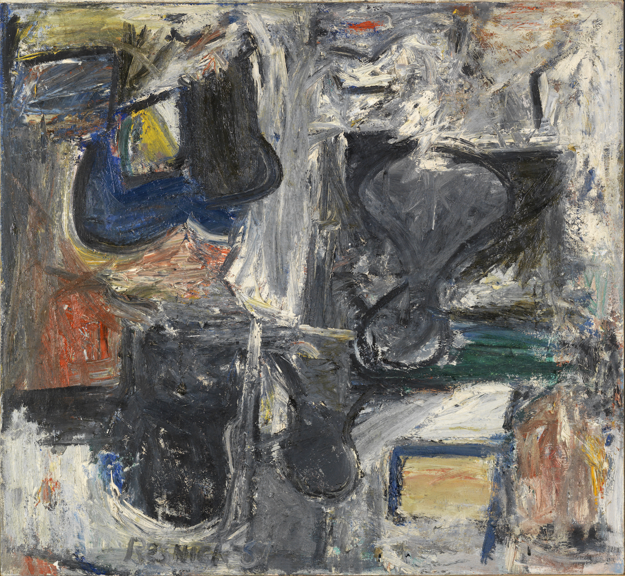 Milton Resnick  Untitled , 1957 Oil on canvas 58 x 63 inches