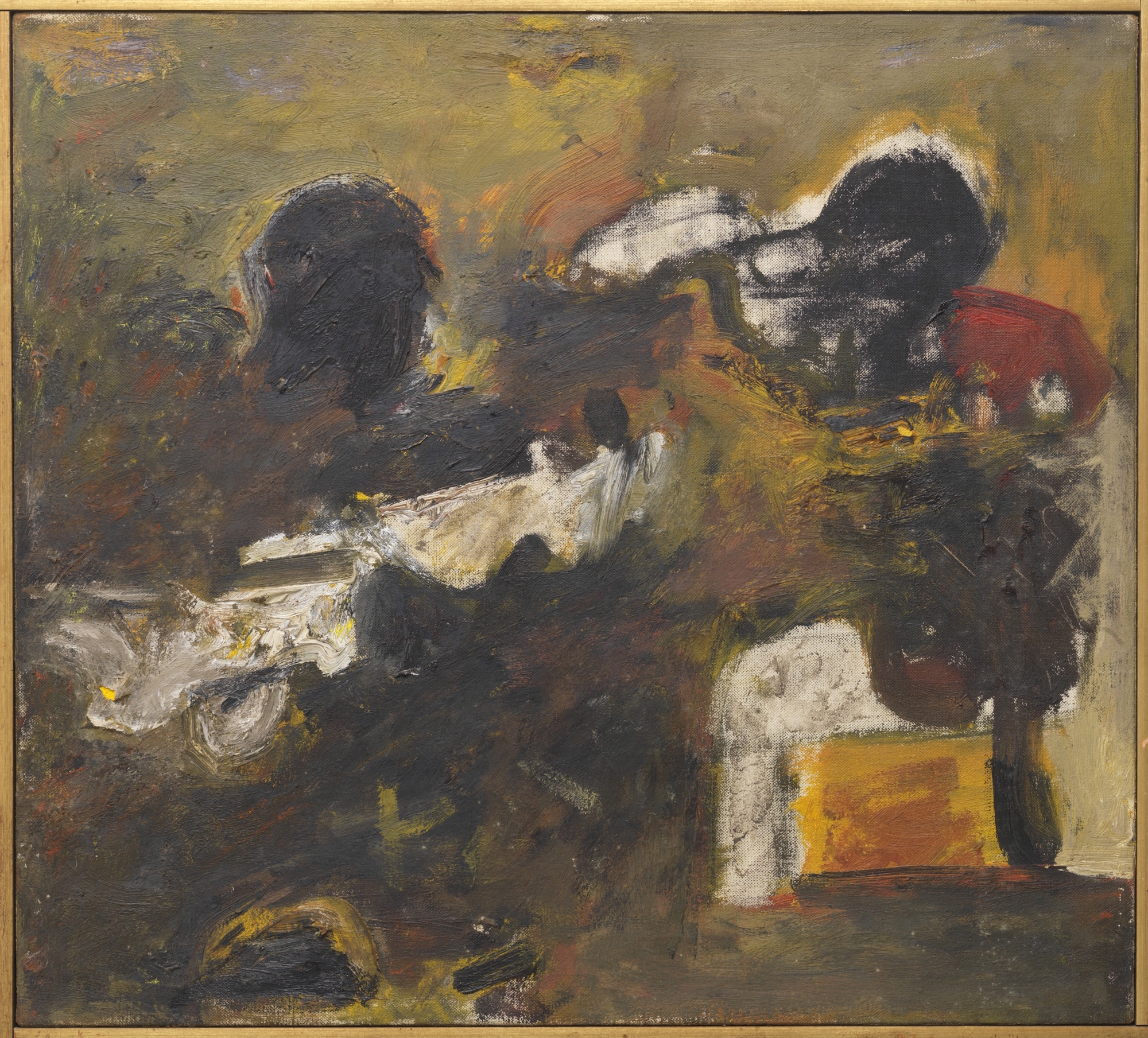 Milton Resnick  Untitled , 1957 Oil on canvas 18 x 19.75 inches