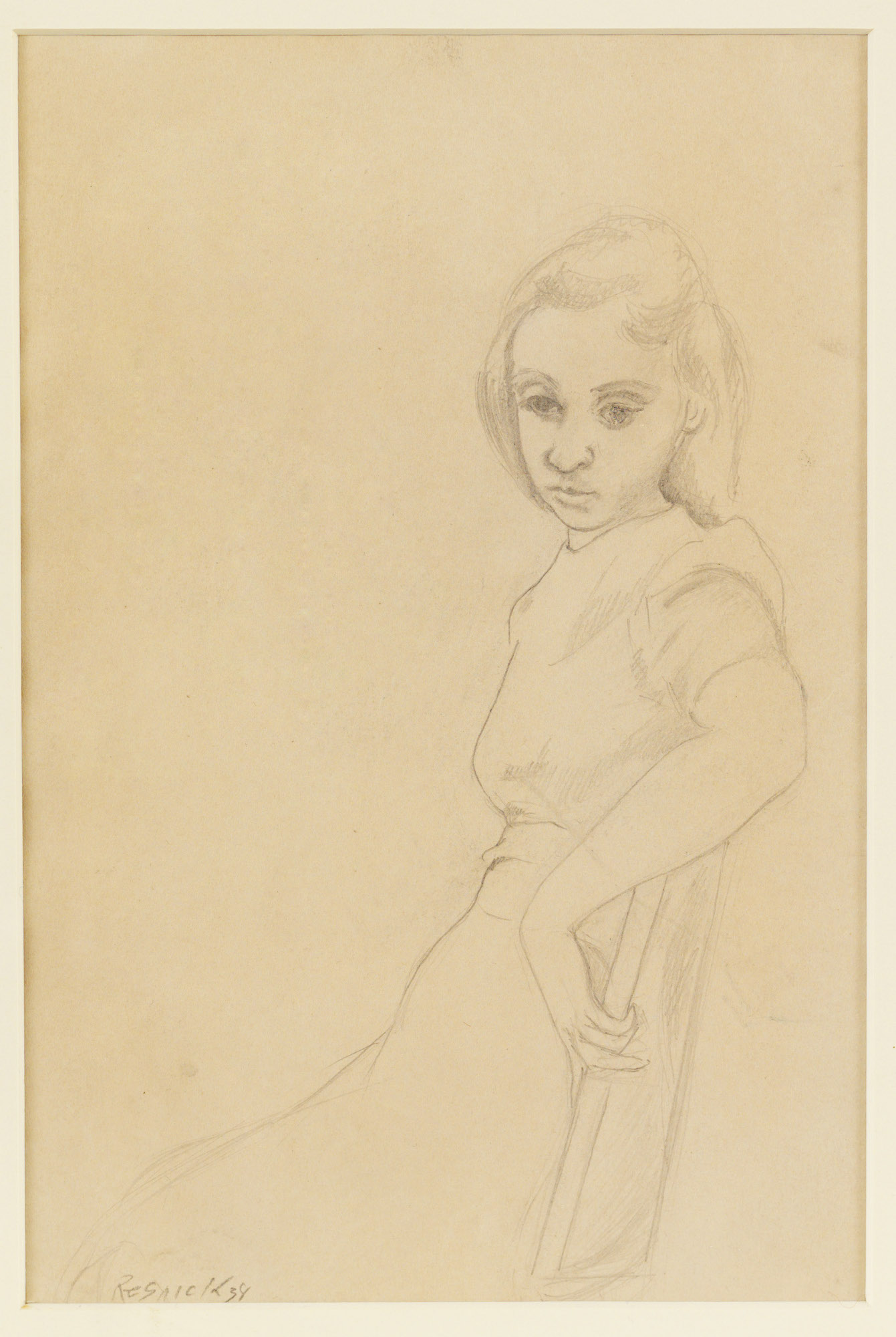 Milton Resnick  Untitled (Portrait) , 1938 Graphite on paper 9 x 6 inches