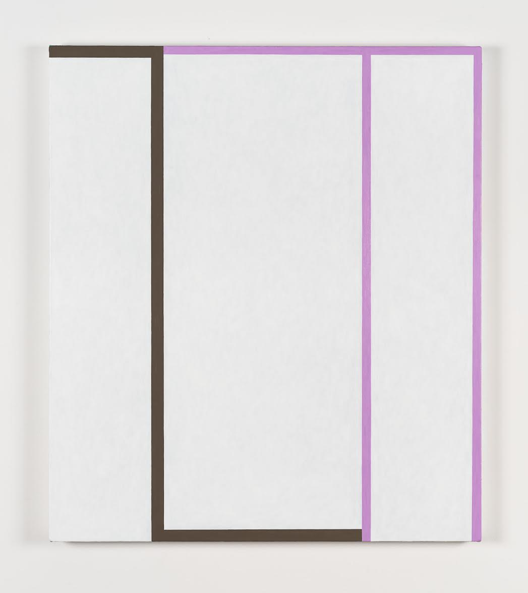 Andrew Spence  Untitled Brown/Violet , 2018 Oil on canvas 40 x 35 inches