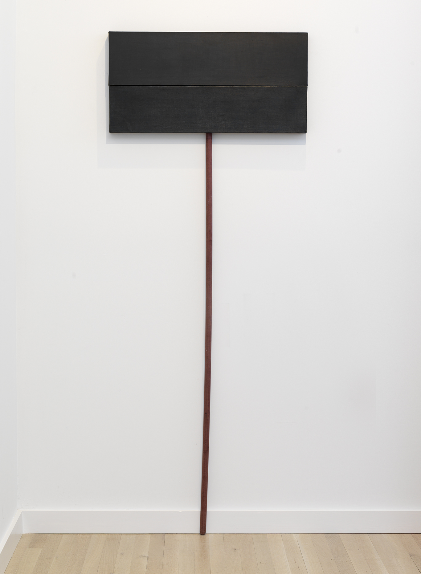 Denzil Hurley  Glyph Within, Without and About #9 , 2016-2018 Oil on canvas on stick 75 x 30 inches