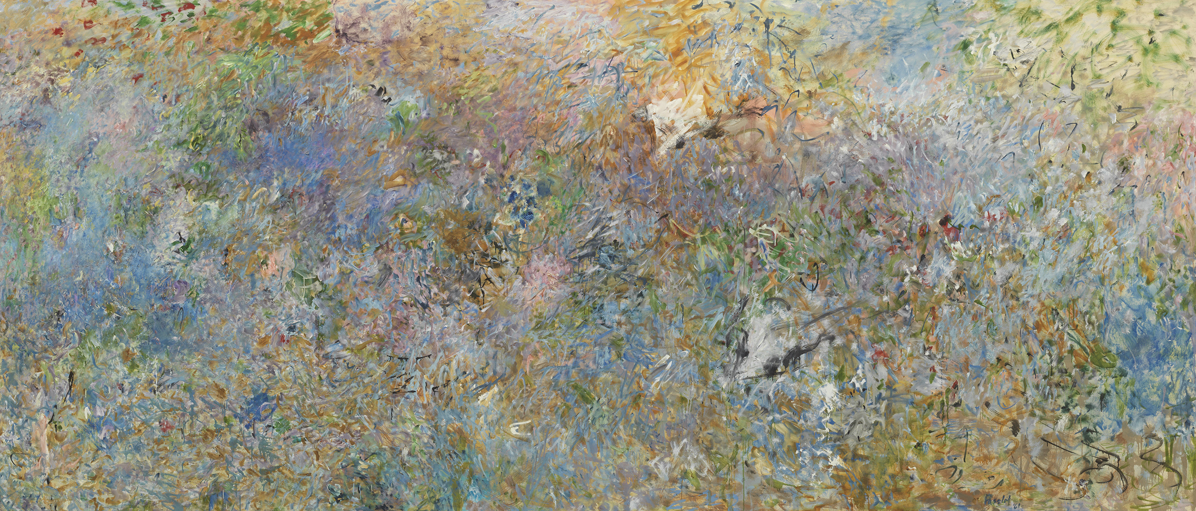 Pat Passlof  Sky Pasture , 1961 Oil on linen 68 x 144 inches