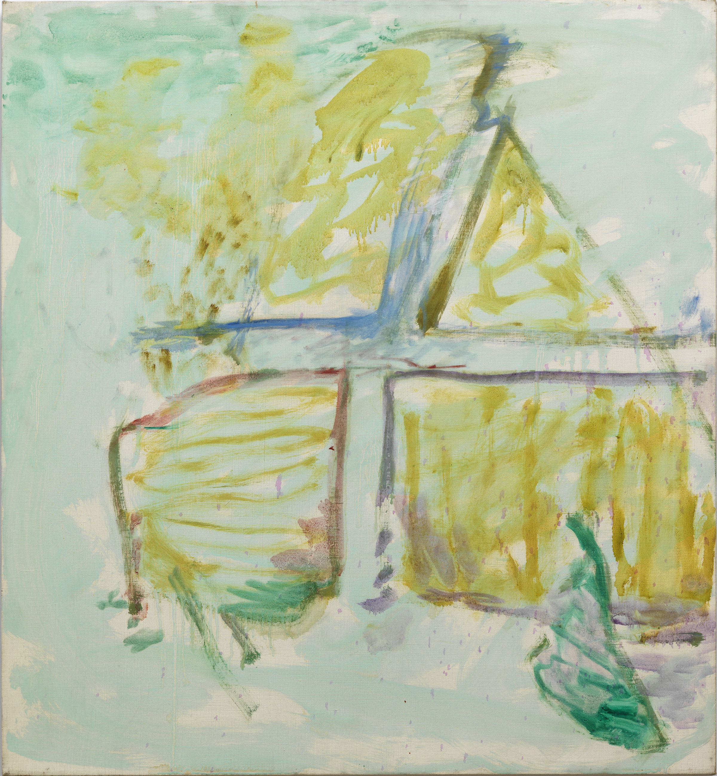 Pat Passlof  Domino , 1961 Oil on linen 28 x 26 inches