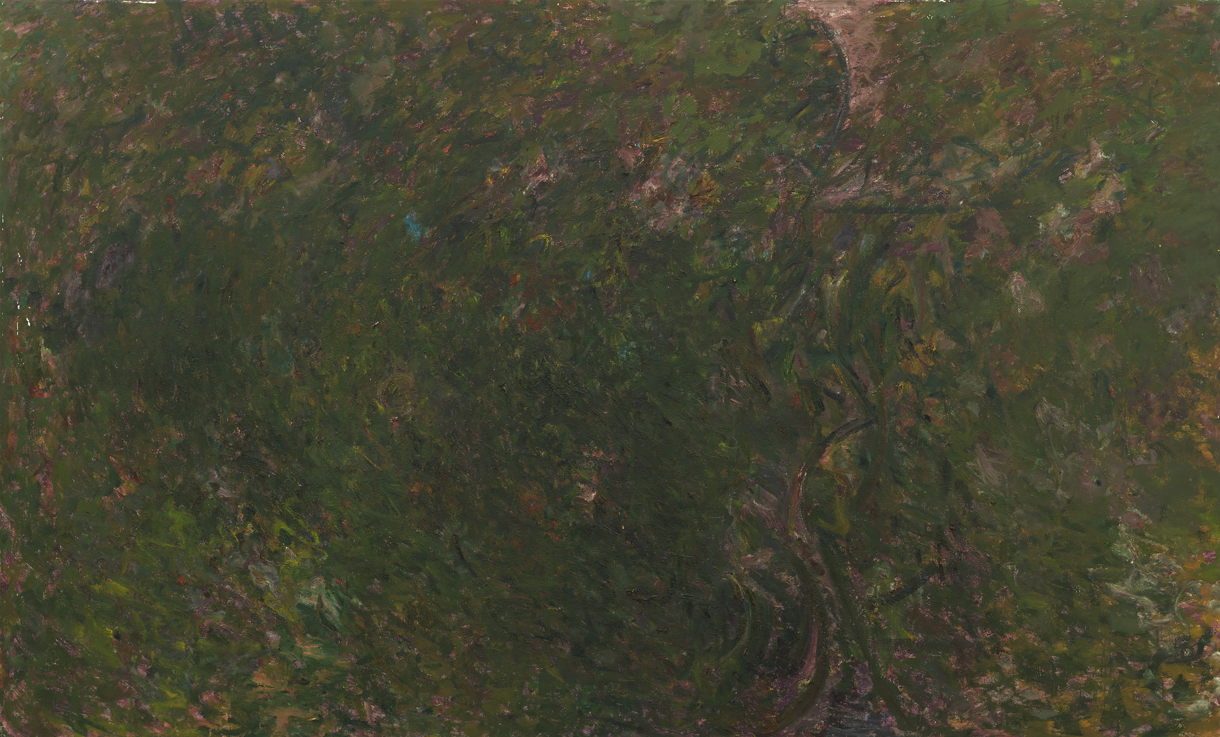 Pat Passlof  Keeping Still Mountain , 1971-72 Oil on linen 80 x 132 inches