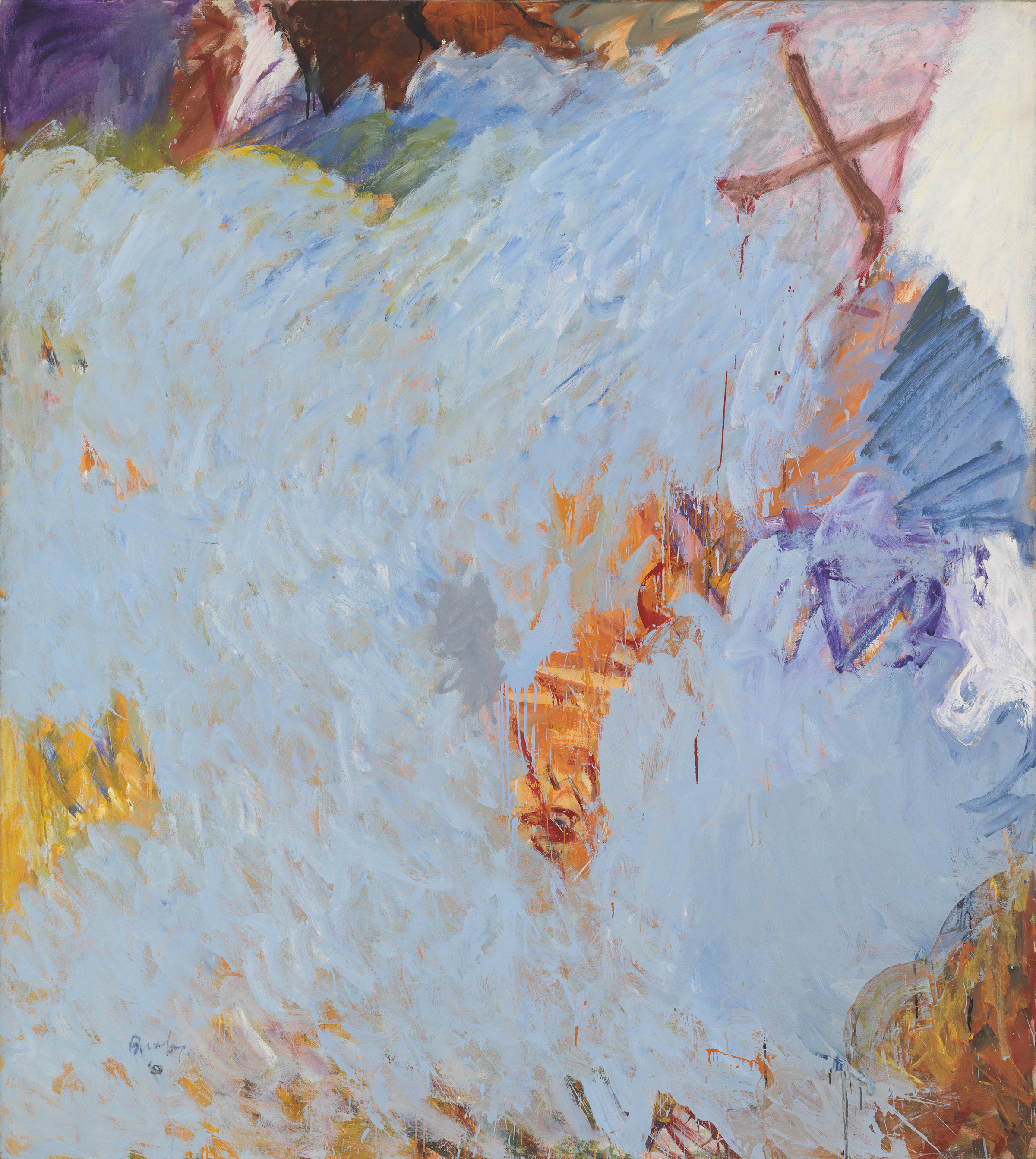 Pat Passlof  Stove , 1959 Oil on linen 77x 69 inches