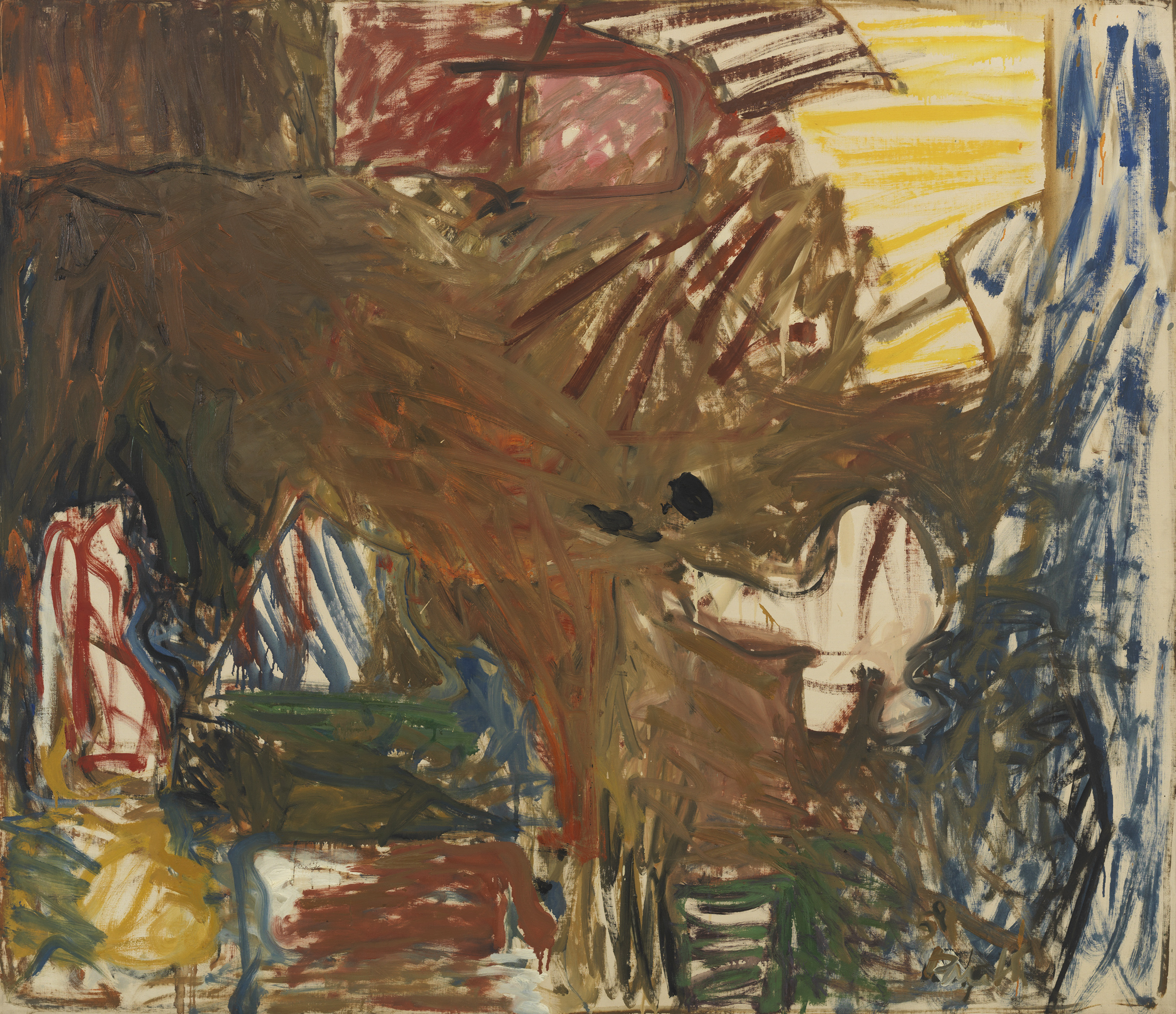 Pat Passlof  AS Brown , 1959 Oil on linen 50 x 58 inches