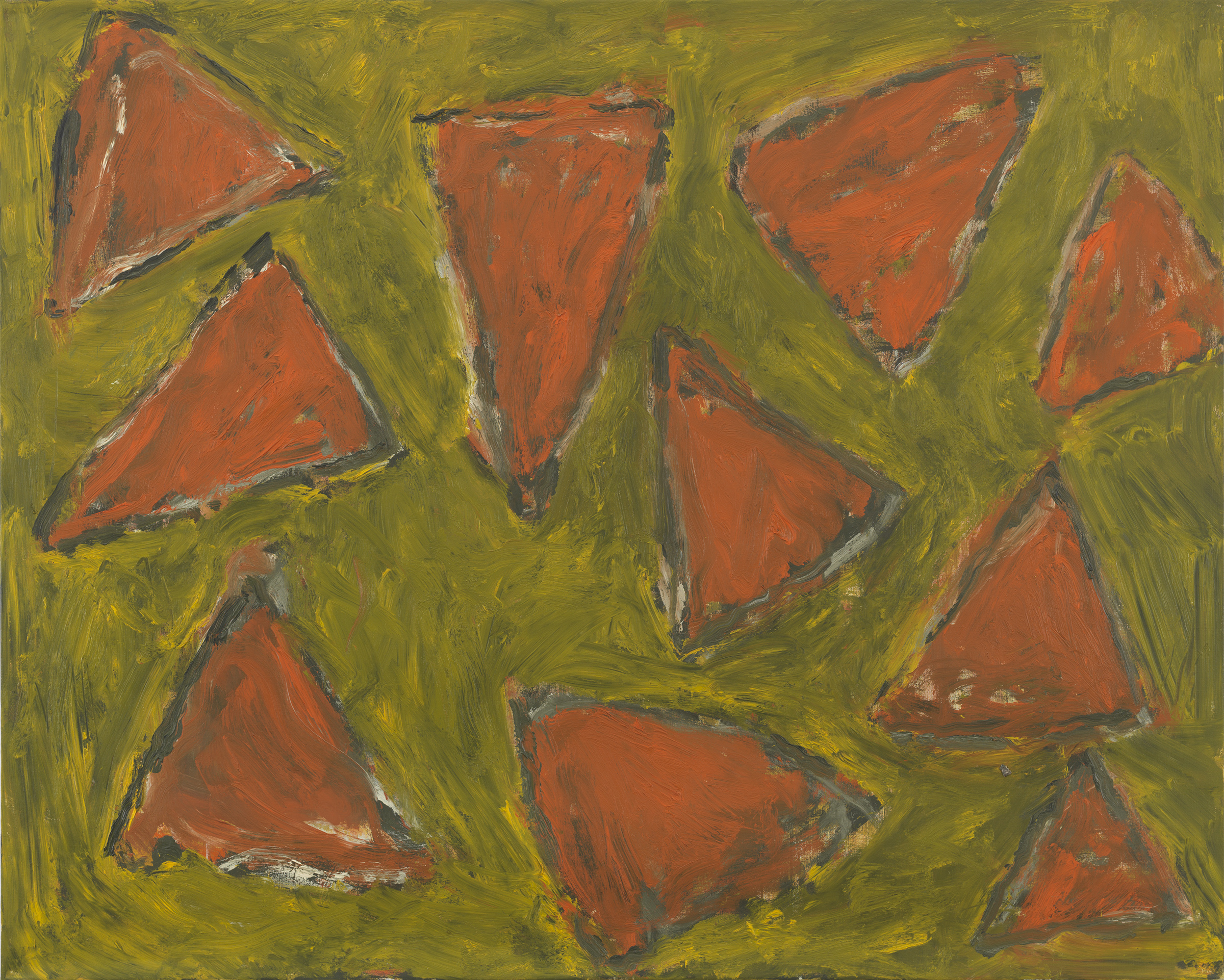 Pat Passlof  HM 11 , 2001 Oil on linen 48 x 60 inches