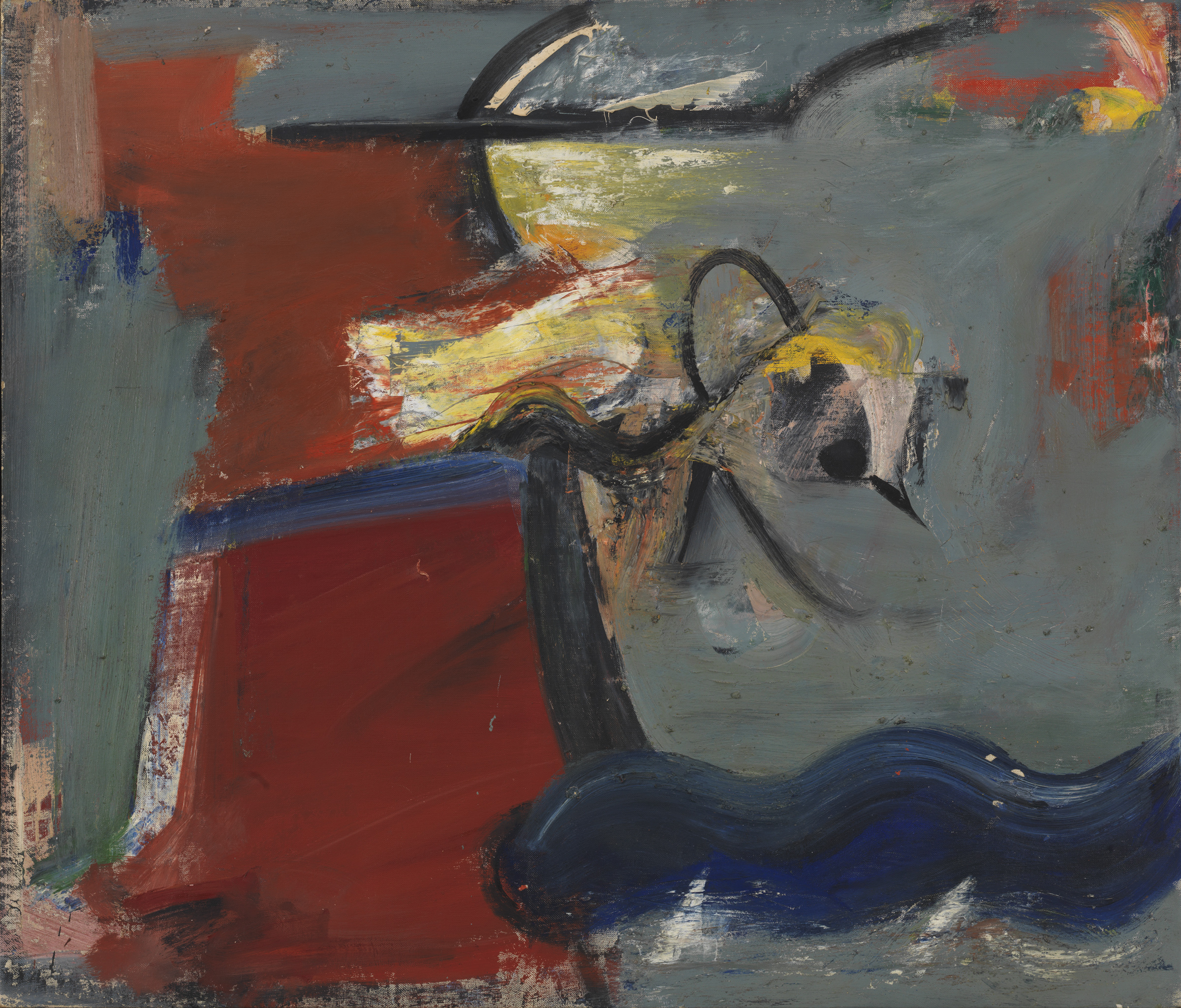 Pat Passlof  March Bird , 1956 Oil on linen 37 x 44 inches