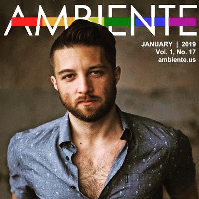 I'm a cover story!  Thanks Ambiente!  Watch my video for Wherever You Are at LINK IN BIO. • • • #gay #gaymagazine #gayman #gaymusic #lgbt #indiemusic #lgbtmusic #gaypride #gaynewyork #gaysofinstagram #gaystagram #hair #beard #scruffygay