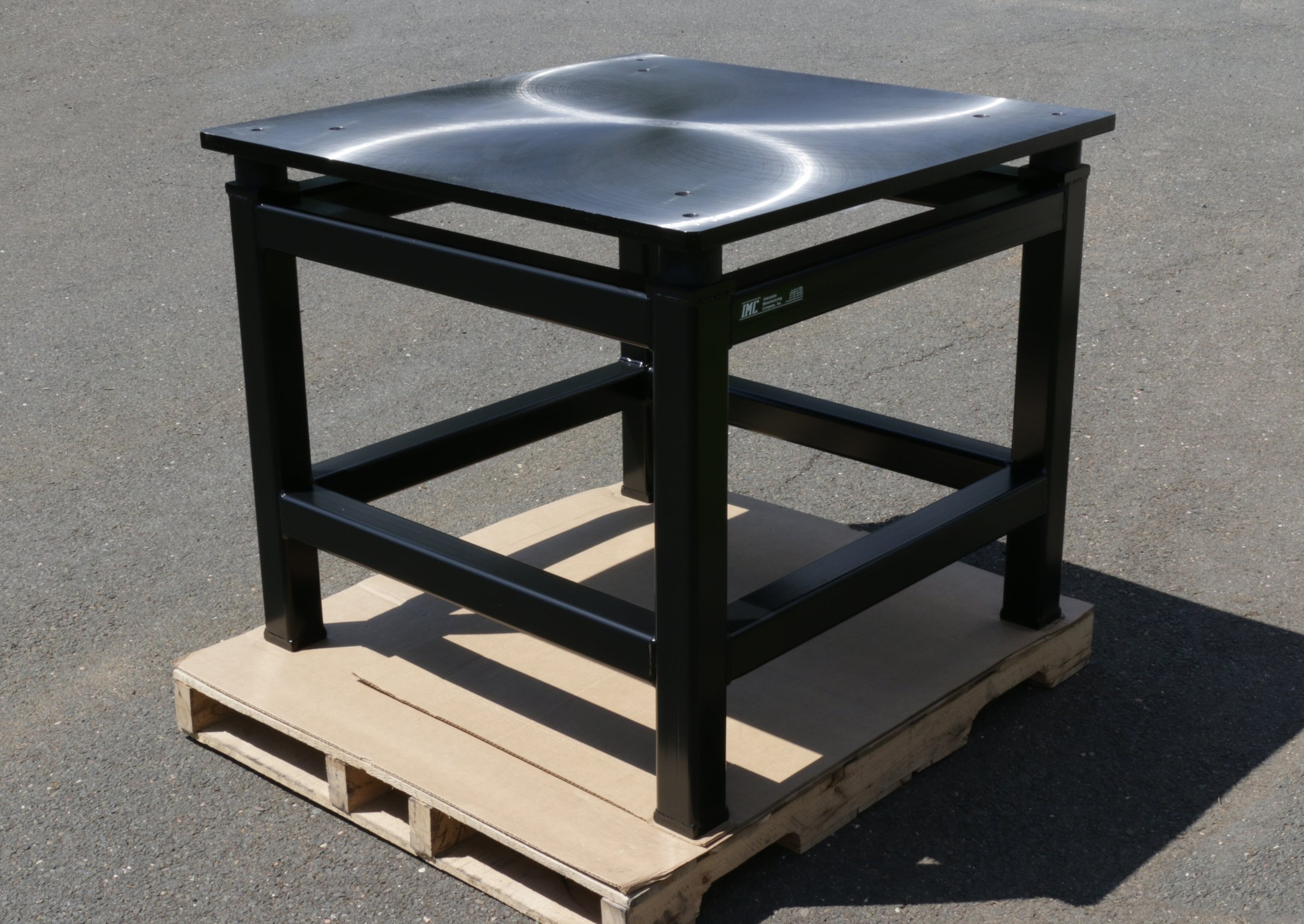 Custom Machine Table with Isolators CA-001-15.JPG