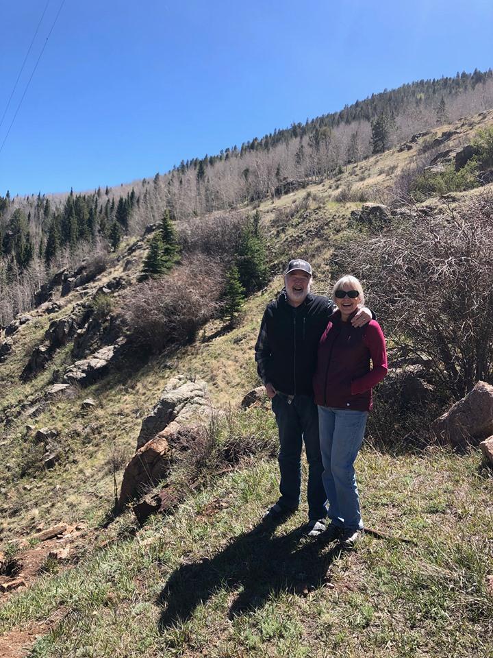 Vance & Anna on a hike.