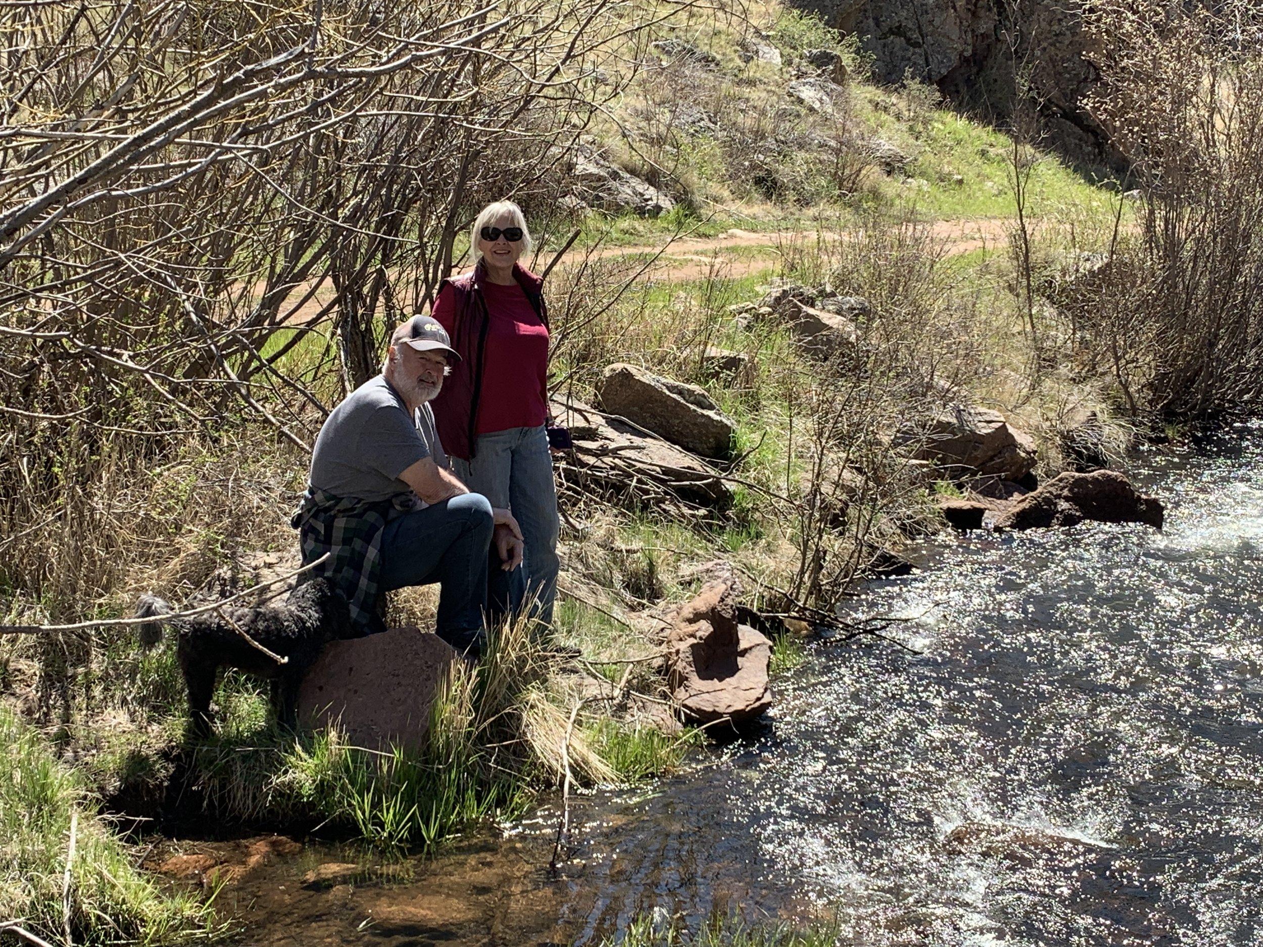 Vance & Anna enjoying the River