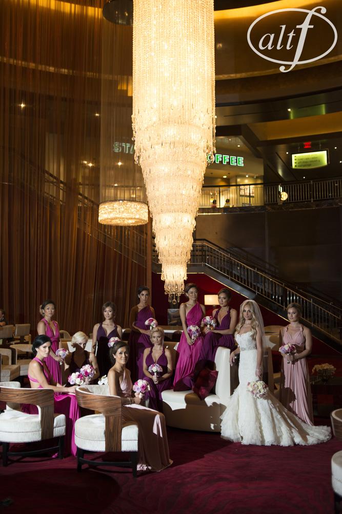 bride-bridesmaids-bridal-party-red-rock-casino-chandelier
