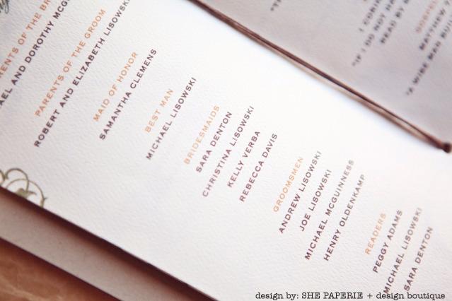 wedding program by shepaperie